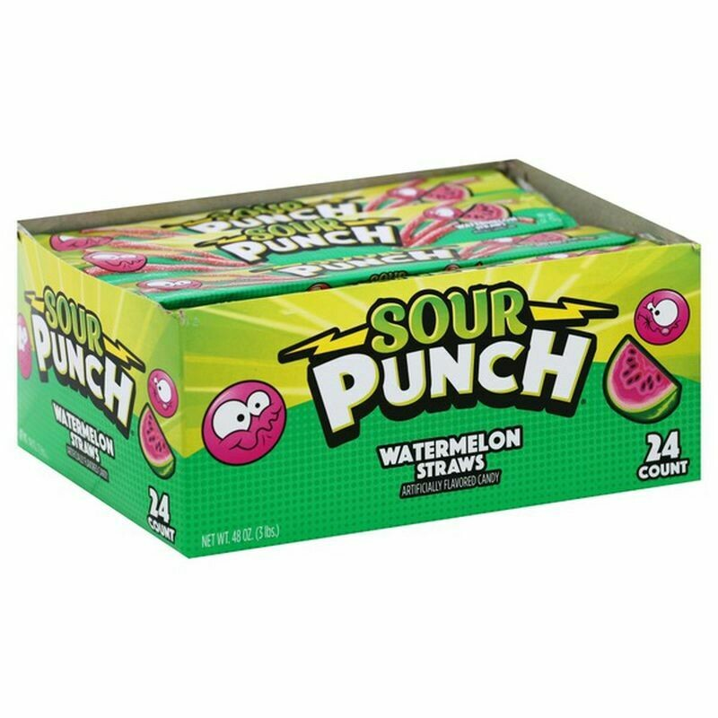 Sour Punch Straws - Watermelon
