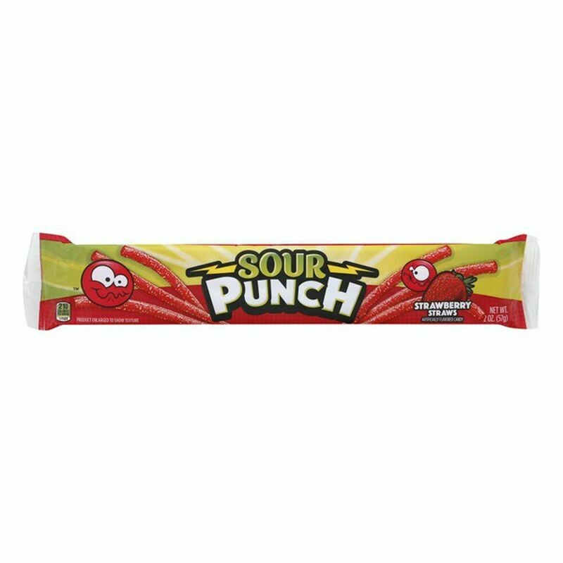 Sour Punch Straws - Strawberry