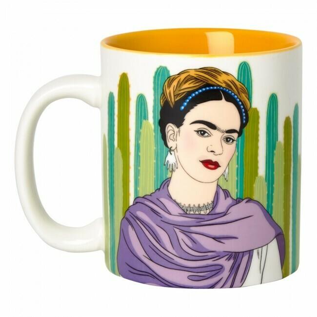 Mug - Artista with Cacti, Frida Kahlo