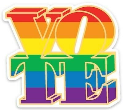 Die Cut Sticker - VOTE, rainbow