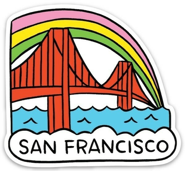 Die Cut Sticker - San Francisco Golden Gate Bridge