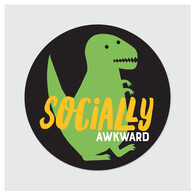 Die Cut Sticker - Socially Awkward
