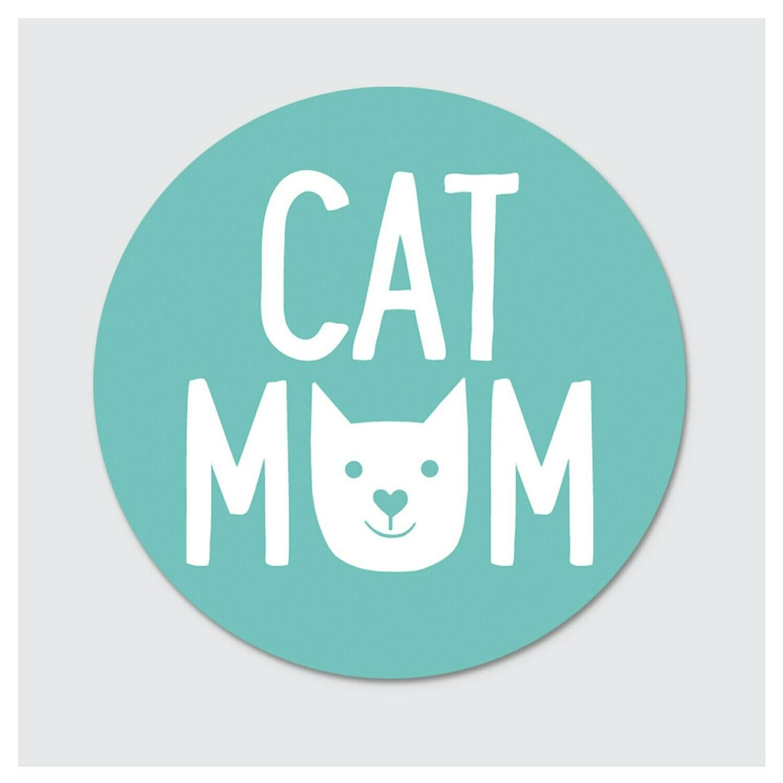 Die Cut Sticker - Cat Mom