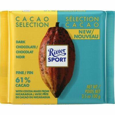 Ritter Sport - Dark Chocolate 61%