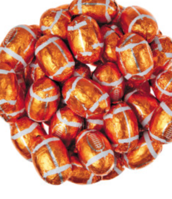 Chocolate Footballs -- 1/2 pound
