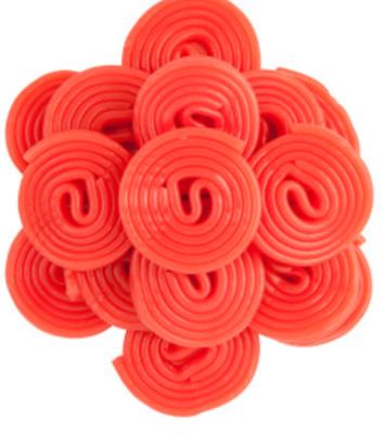 Strawberry Licorice Wheels -- 1/4 lb