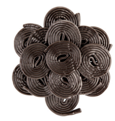 Black Licorice Wheels -- 1/4 lb