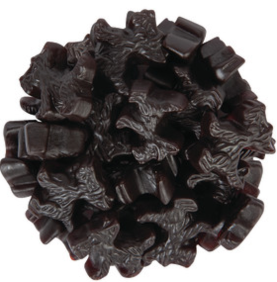 Licorice Black Scottie Dog -- 1/4 lb