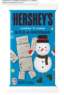 Hershey's - Cookies n' Creme, Build-a-Snowman