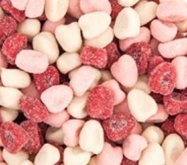 Sour Petit Hearts -- 1/2 pound