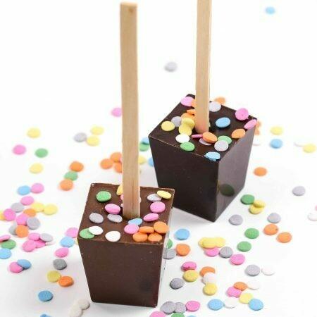 Ticket Hot Chocolate Stick - Happy Birthday