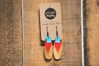 Kitschy Mama Earrings Pine and Red