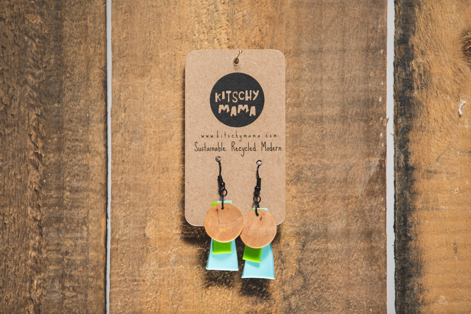 Kitschy Mama Earrings Pastels, Green, and Pine