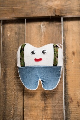 TOOTH PILLOW by Meg Covalt Designs