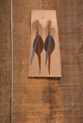 FF26 Long Leather Earring