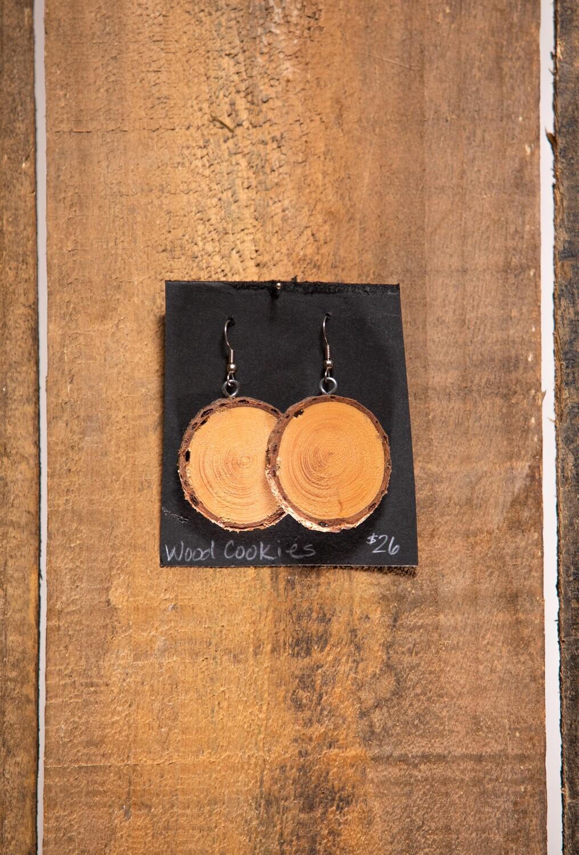 Wood Cookie Earrings