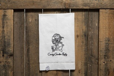 Embroidered Tea Towel- Crazy Garden Lady