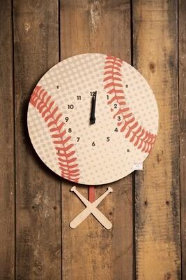 Modern Moose Pendulum Clock- Baseball