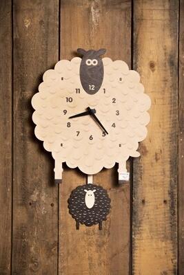 Modern Moose Pendulum Clock - Sheep