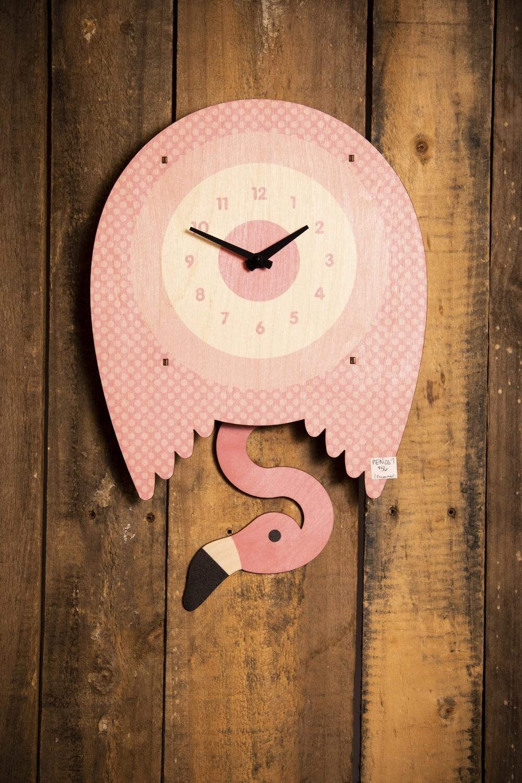 Flamingo Pendulum Clock PEN067