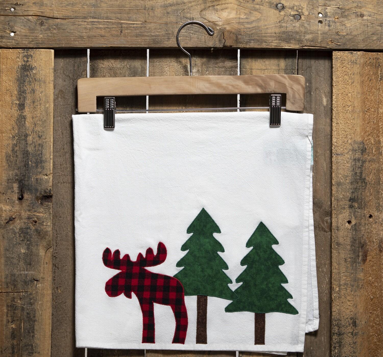 CR7 Plaid Moose In Trees