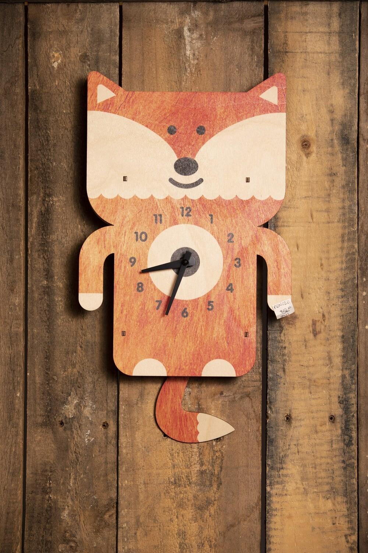 Fox Pendulum Clock - PEN020