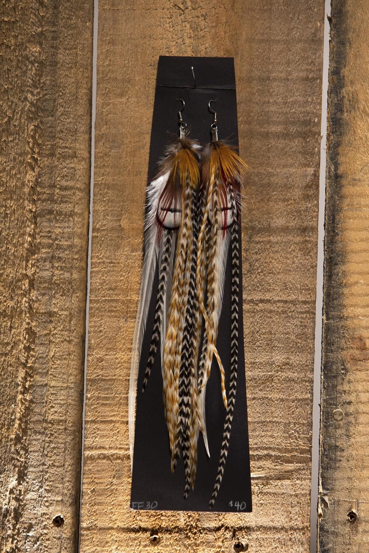 FF30 Long Feather Earrings
