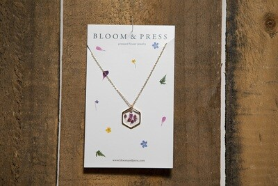 Bloom and Press Pink Heather- Gold