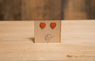 BBOWH Wooden Orange Heart