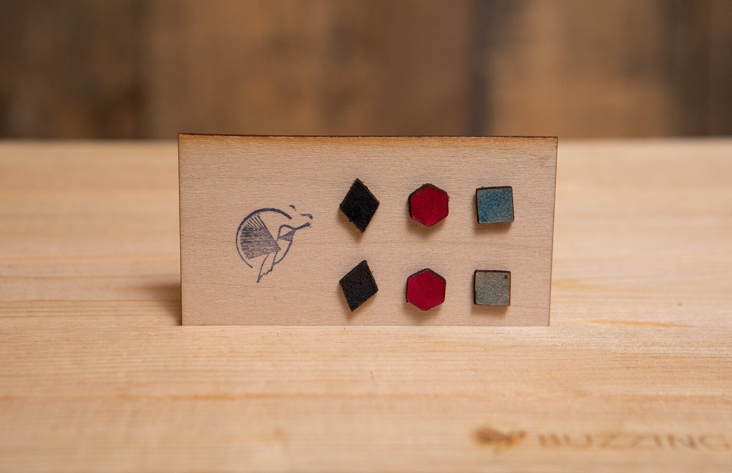 Leather Studs Set Of 3 (3)