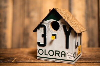 License Plate Bird House -Colorado Plate