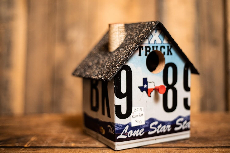 License Plate Birdhouse- Texas Plate