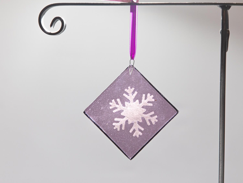 Snowflake Ornament- Purple