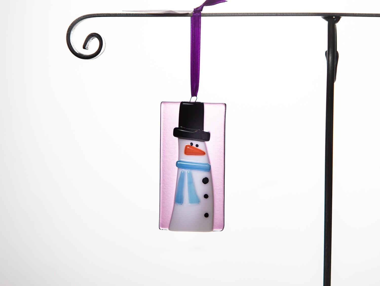 Snowman Ornament- Purple