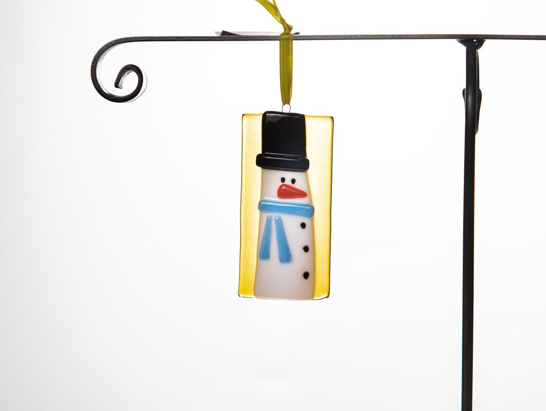 Snowman Ornament- Yellow
