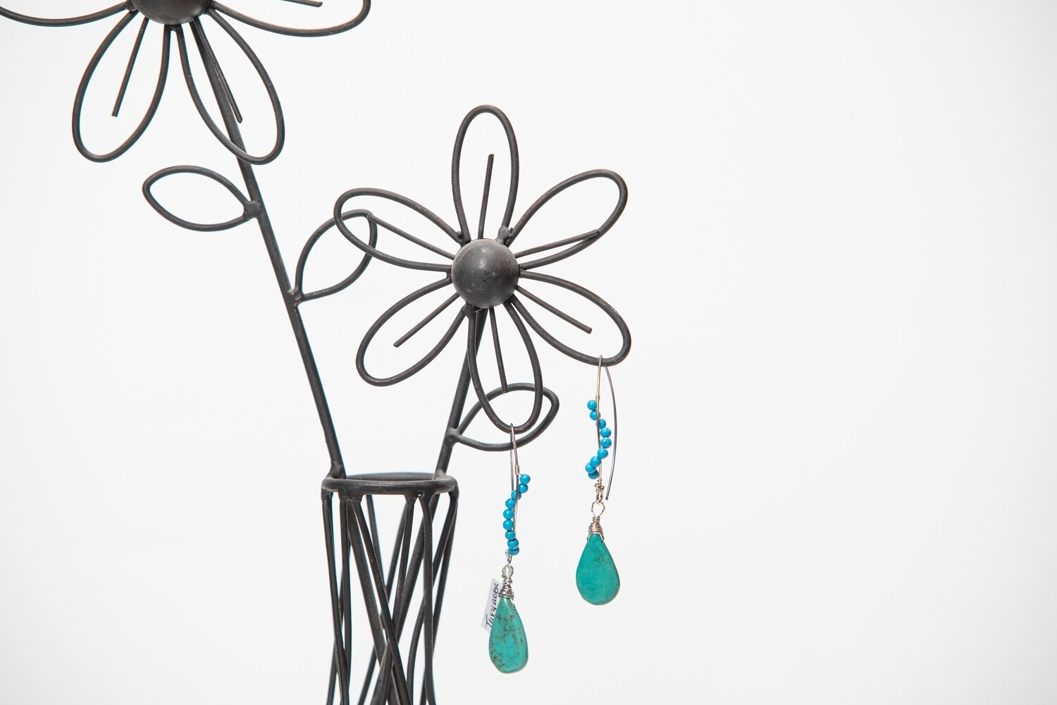 Sterling Silver and Tear Drop Turquoise