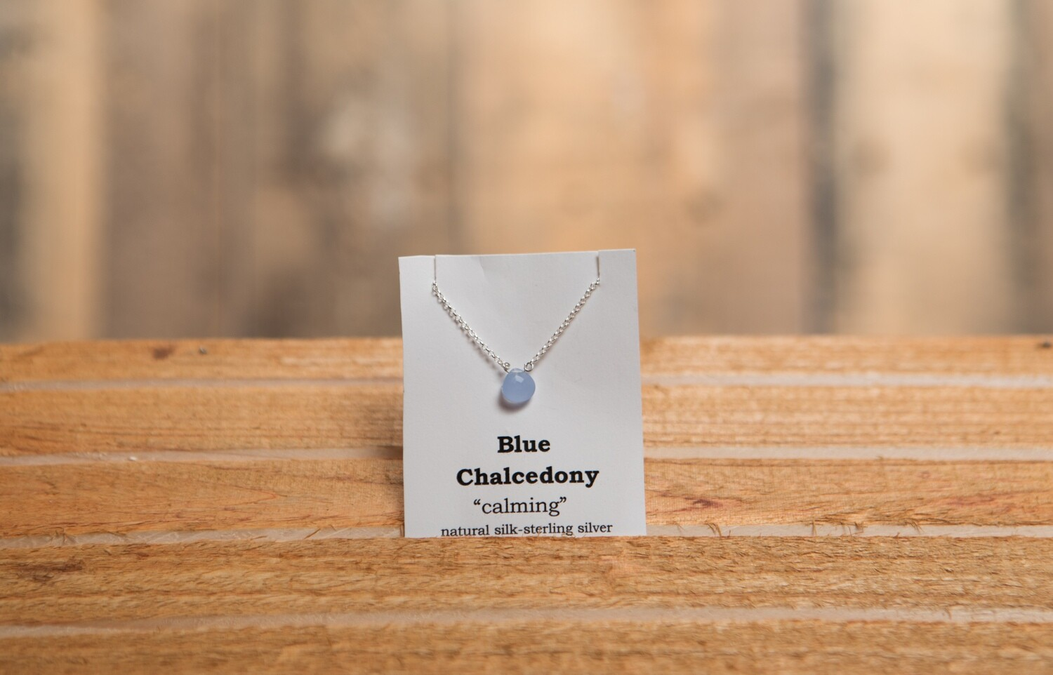 Blue Chalcedony Sterling Silver
