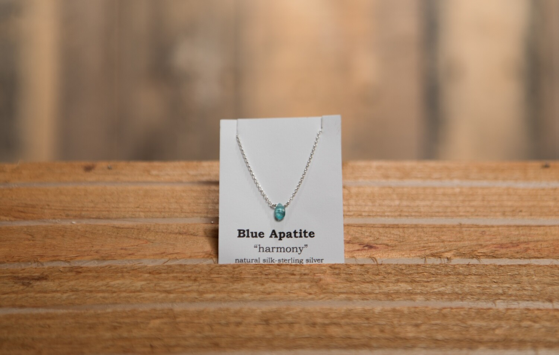 Blue Apatite Sterling Silver