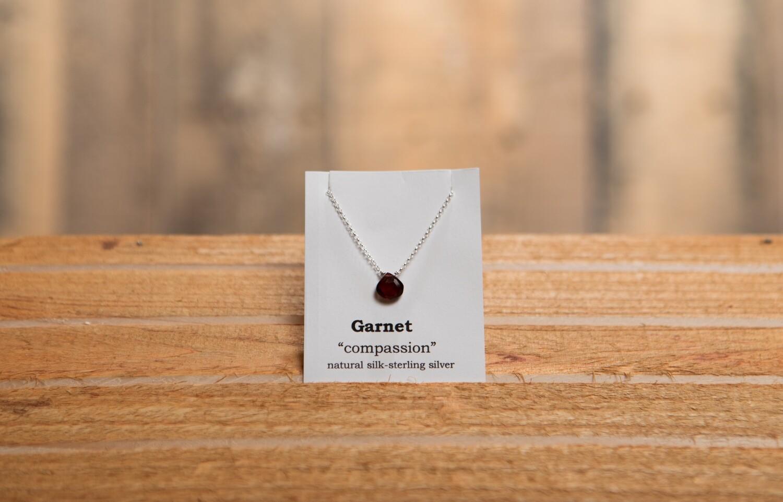 Garnet Sterling Silver