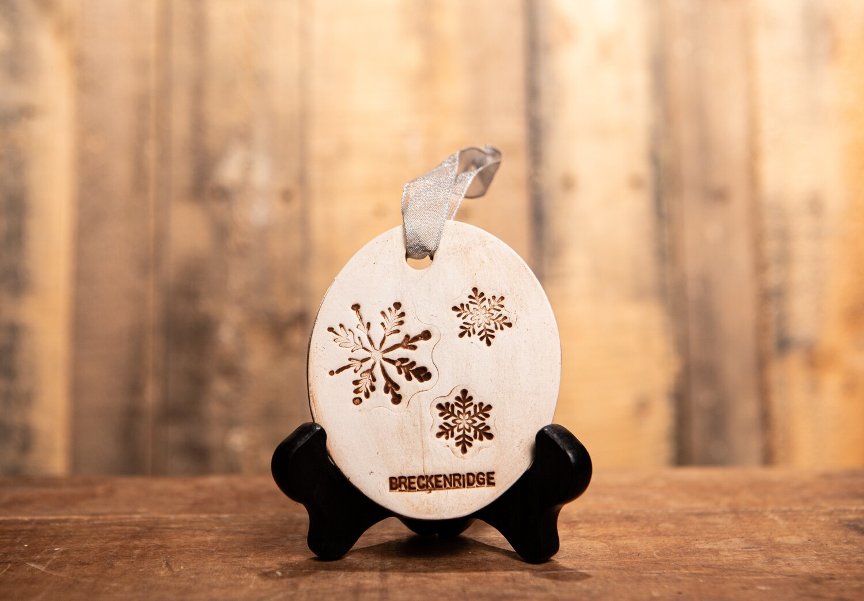 BN226 3 Snowflake Breck Ornament