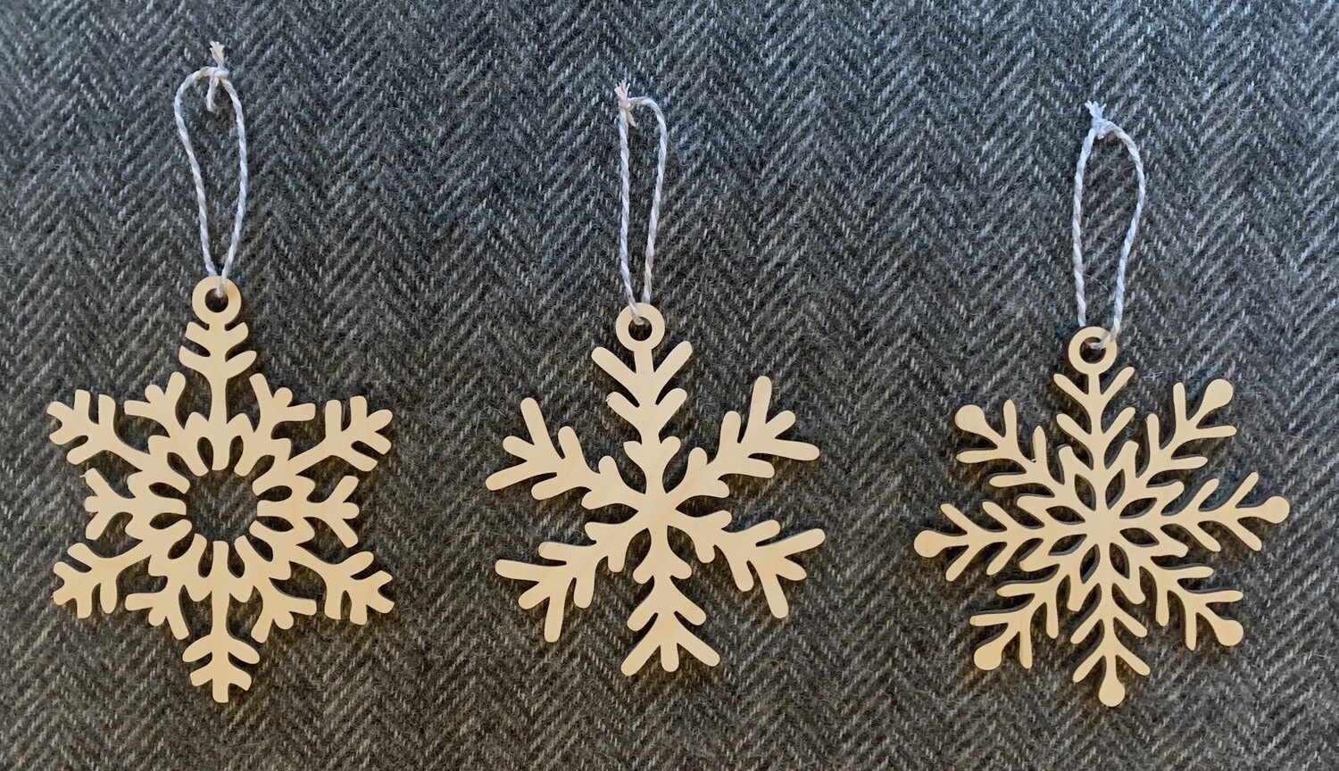 Snowflake Bauble Set by Pretty Ply