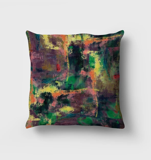 Wild Hearted Vegan Suede Cushion by NARUSEDESIGN