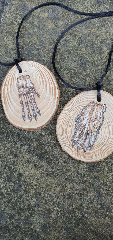 Lucky rabbit's foot pendants by Kate Kneen (katek.draws)