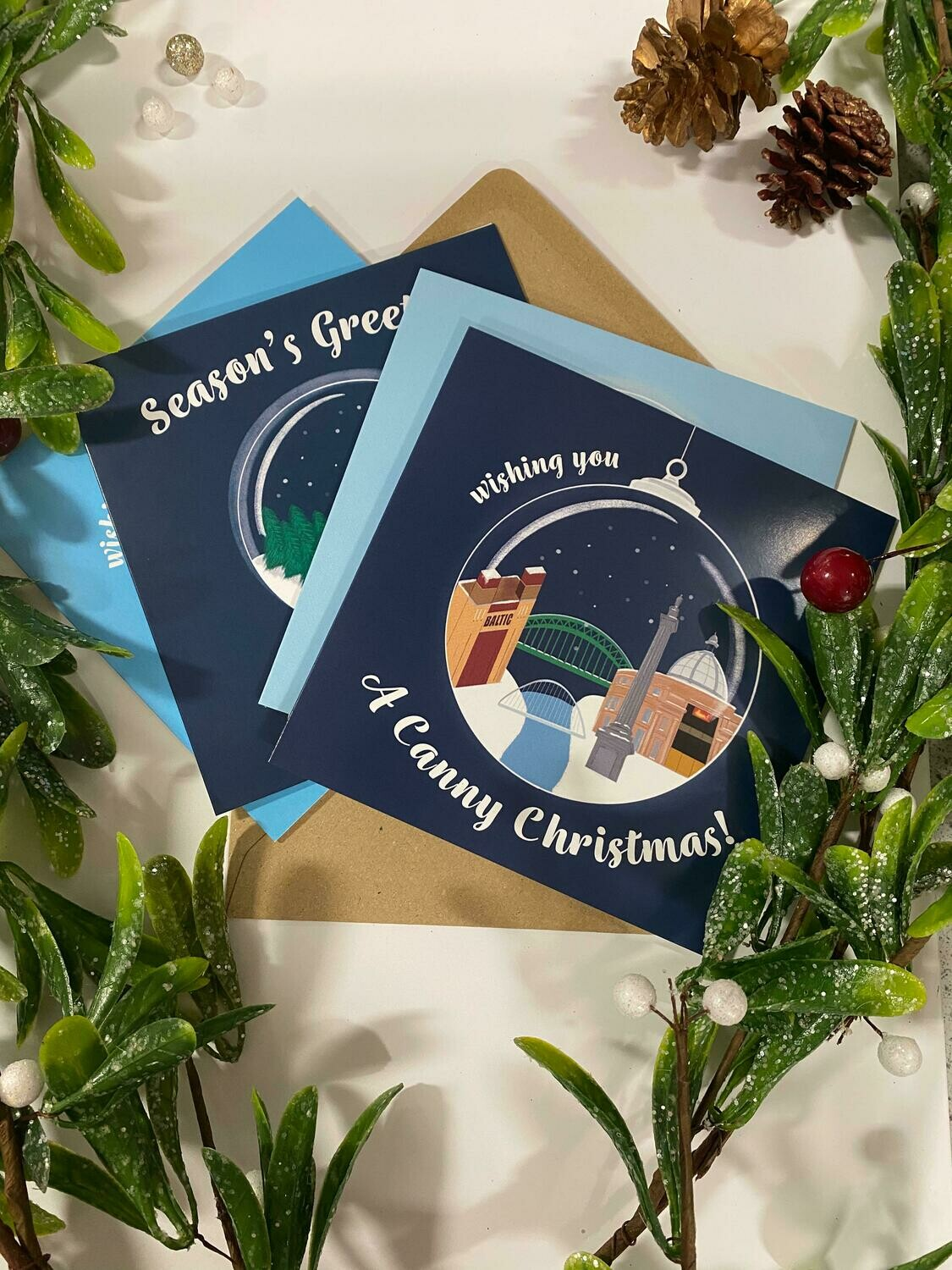 Pack of 8 'Canny Christmas Cards' by Katie Gallagher (kgalldesigns)
