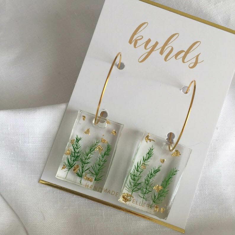 Fern Dangle Earrings by kyhds