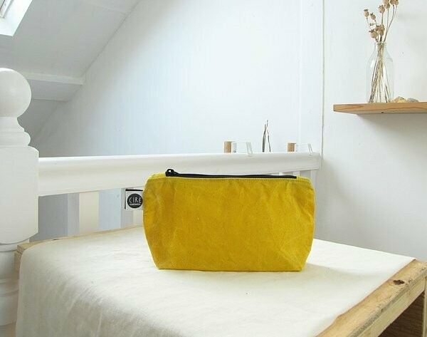 Small waxed canvas Washbag by Ciré Bags