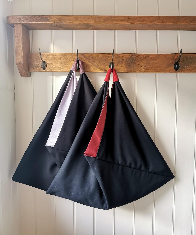 Origami Linen & Rayon Blend shoulder bag by Kaleidoscope Textiles