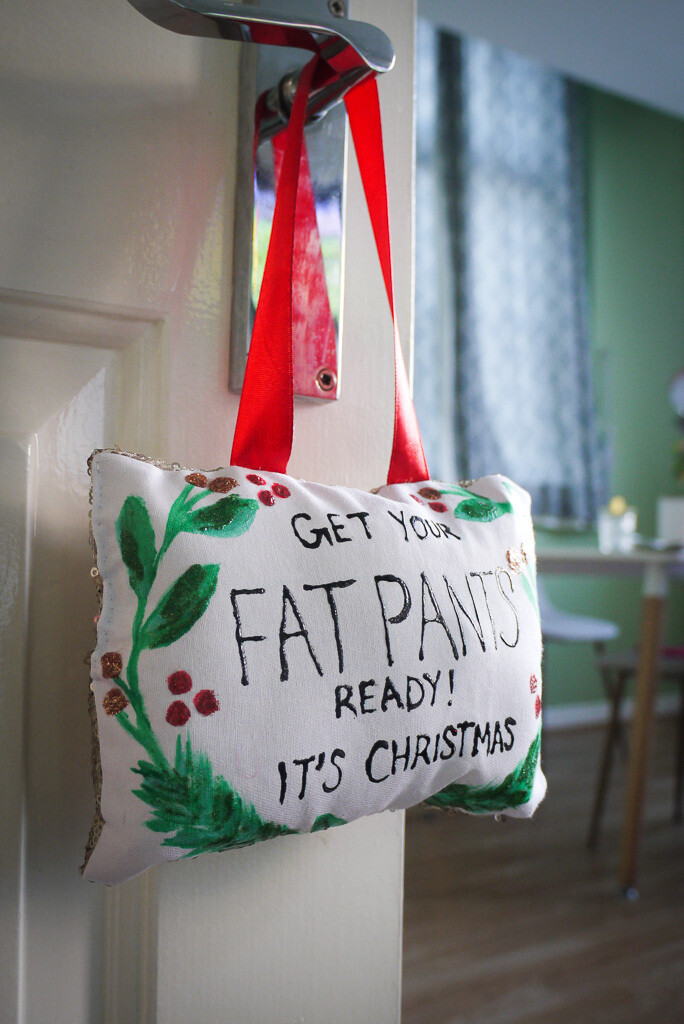 Christmas Handmade Decoration - Get Your Fat Pants Ready! by Niftygifty.ne1