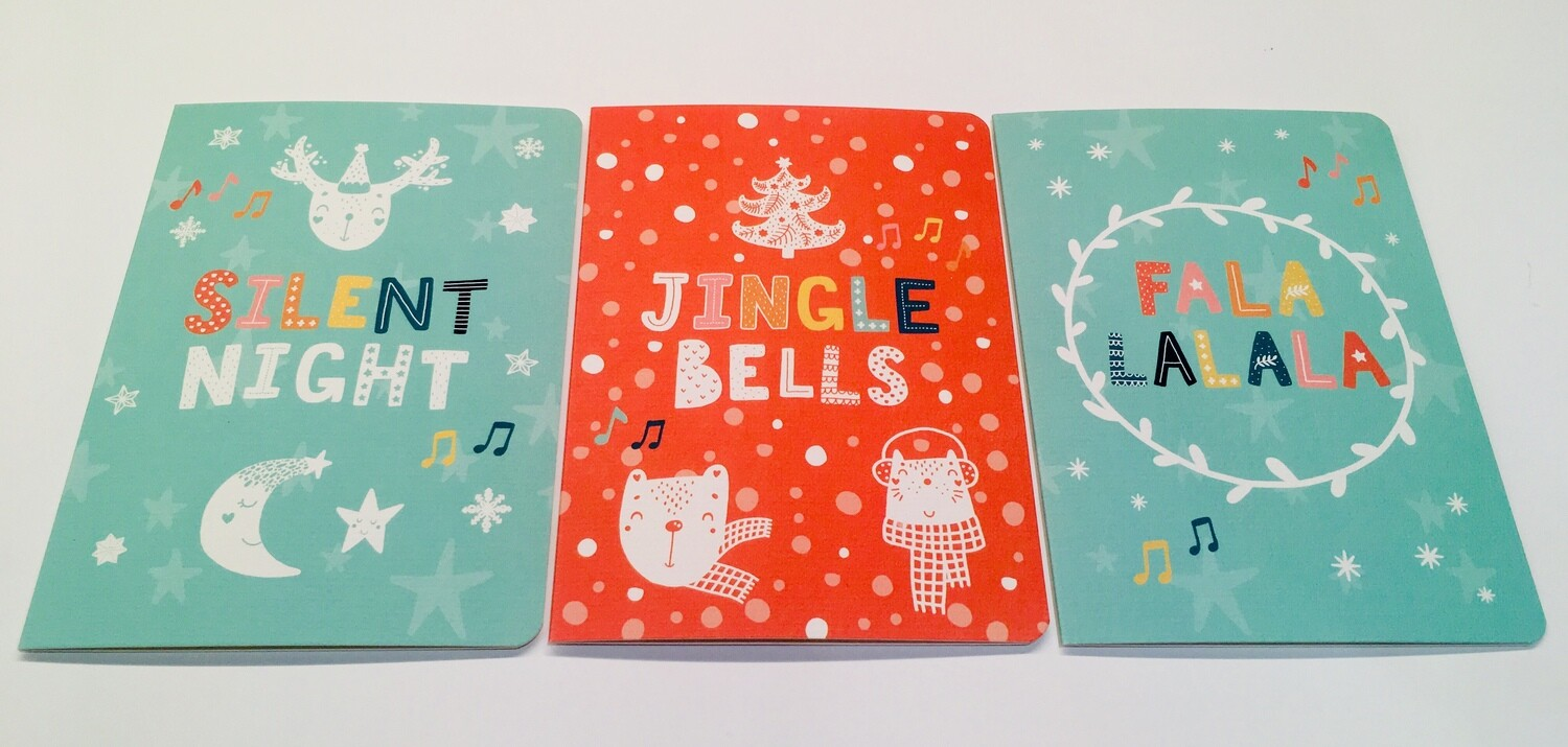 Christmas Cards pack of 6 by Little and Loud