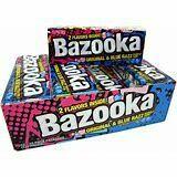 Bazooka Original & Blue Razz gum